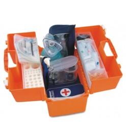 Набор реанимационный для оказания скорой медицинской помощи НРСП-01-«МЕДПЛАНТ» в футляре-саквояже УМСП-01-Пм/2 с набором для коникотомии, с аспиратором