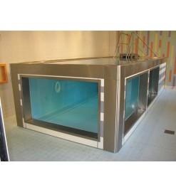 Модульный бассейн из нержавеющей стали для реабилитации в воде