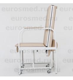 Кресло-кушетка (кровать) складная ККС-1 на металлокаркасе (кресло для пациента)