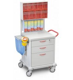 Медицинская тележка стойка ТМ-1 для процедурной медсестры