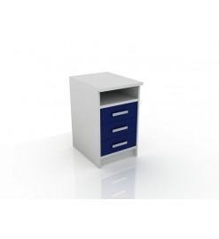 Модуль с ящиками (тумба приставная, 3 ящика и ниша) 106-004-14