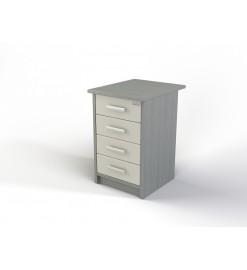 Модуль с ящиками (тумба приставная, 4 ящика) 106-004-6