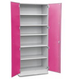 Шкаф медицинский высокий для хранения медикаментов (с полками, двухстворчатый)