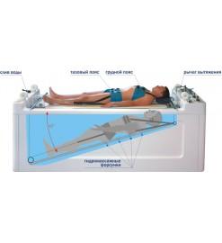 Акватракцион - комплекс для подводного вытяжения и  гидромассажа позвоночника (со встроенным механизмом подъема пациента)