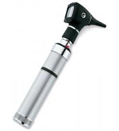 Диагностический волоконно-оптический отоскоп со встроенным осветителем горла