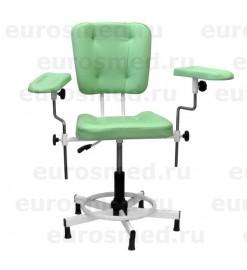 Кресло донорское MedMebel №25 с двумя подлокотниками, газлифт