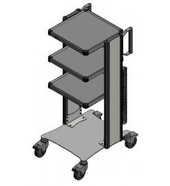 Стойка передвижная с принадлежностями ЕН454 с двумя колоннами СП2-03-ФОТЕК